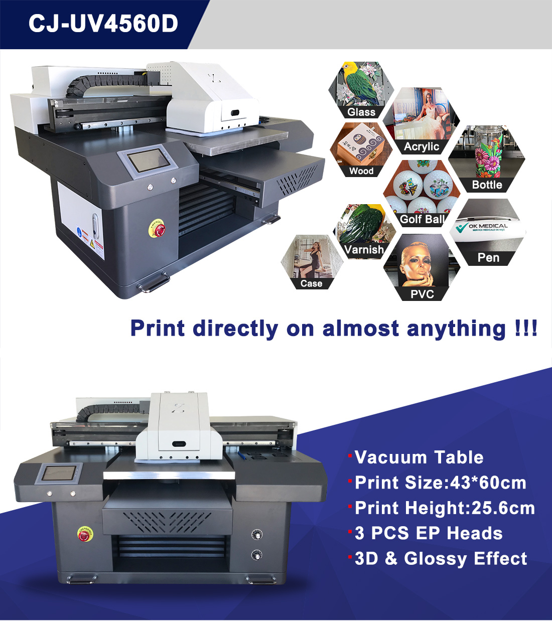 a2 uv led printer