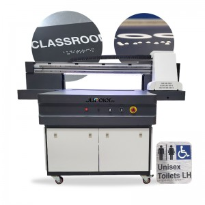 Braille UV Printing by Jucolor 9060 A1 UV Flatbed Printer